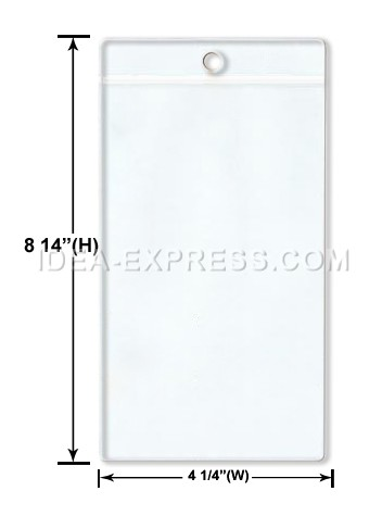Clear Ticket Holders (Card Size: 4 X 7 1/2)