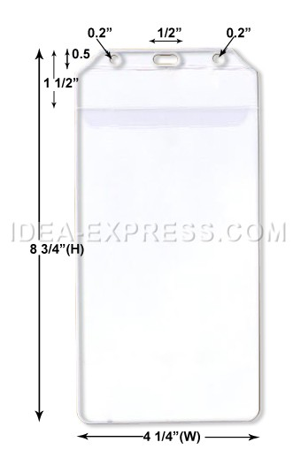 Vertical Badge Holders with Flap (Card Size: 4 X 8)