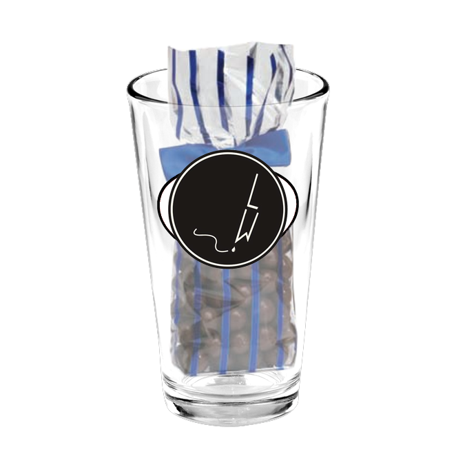 Candy Filled Pint Glasses