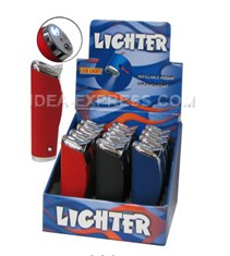 Stylish Rubber Finish Refillable Lighters