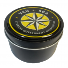 Black Metallic Candy Tins with Dome