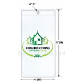 Ticket Holder With Eyelet (Card Size: 3 5/8 X 7)