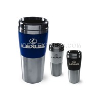 14 oz. Double Wall Stainless Steel Travel Mug with Acrylic Band