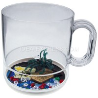 12oz Styrene Beach Theme Compartment Coffee Mug